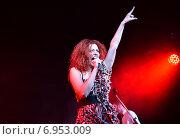 Купить «Юлия Коган поет на сцене», фото № 6953009, снято 30 января 2015 г. (c) Дарья Егорова / Фотобанк Лори