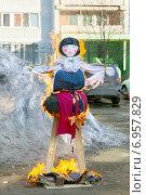 Сжигание чучела на Масленицу. Стоковое фото, фотограф Юлия Кузнецова / Фотобанк Лори