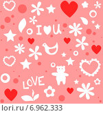 Купить «Бесшовная абстрактная текстура ко дню Святого Валентина», иллюстрация № 6962333 (c) Ирина Балина / Фотобанк Лори