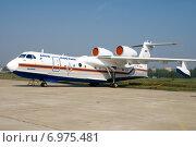 Самолет Бе-200ЧС на выставке МАКС-2007 в городе Жуковский. Редакционное фото, фотограф Сергей Попсуевич / Фотобанк Лори