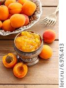 Купить «Bowl of apricot jam. Healthy food», фото № 6976413, снято 24 мая 2020 г. (c) BE&W Photo / Фотобанк Лори