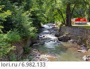 Купить «Горная река Боржомка. Грузия», фото № 6982133, снято 6 июля 2013 г. (c) Евгений Ткачёв / Фотобанк Лори