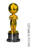Купить «3d человечек в виде премии оскар», иллюстрация № 6989221 (c) Anatoly Maslennikov / Фотобанк Лори