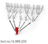 Купить «3d люди стоят по принципу сети или пирамиды. Пирамидальная диаграмма», иллюстрация № 6989233 (c) Anatoly Maslennikov / Фотобанк Лори