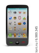 Купить «Экран смартфона с иконками», иллюстрация № 6989345 (c) Anatoly Maslennikov / Фотобанк Лори