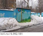 Купить «Металлические гаражи (бывшие) на Хабаровской улице в Гольяново в Москве», эксклюзивное фото № 6992181, снято 8 марта 2009 г. (c) lana1501 / Фотобанк Лори