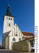 Купить «Церковь Святого Николая, Таллин, Эстония», фото № 6993273, снято 12 сентября 2013 г. (c) Юлия Белоусова / Фотобанк Лори