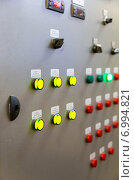 Купить «Пульт управления автоматическим пищевым конвейером», фото № 6994821, снято 25 декабря 2014 г. (c) Евгений Ткачёв / Фотобанк Лори