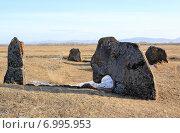 Купить «Курган. Хакасия», фото № 6995953, снято 8 февраля 2015 г. (c) Виталий Матонин / Фотобанк Лори