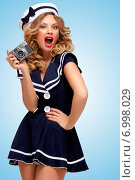 Купить «Vintage sailor girl.», фото № 6998029, снято 27 апреля 2014 г. (c) Ingram Publishing / Фотобанк Лори
