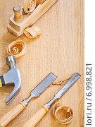 Купить «chisels claw hammer and woodworkes plane», фото № 6998821, снято 18 ноября 2019 г. (c) Ingram Publishing / Фотобанк Лори