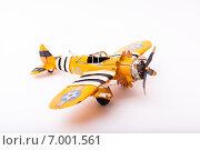 Модель желтого самолета. Стоковое фото, фотограф Альберт Васильев / Фотобанк Лори