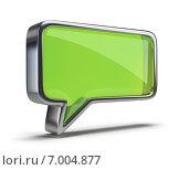 Купить «Иконка Чат. Зеленая речевая сноска», иллюстрация № 7004877 (c) Anatoly Maslennikov / Фотобанк Лори