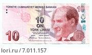 Купить «10 турецких лир, лицевая сторона», иллюстрация № 7011157 (c) Светлана Колобова / Фотобанк Лори