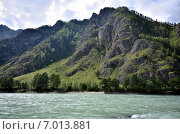 Купить «Вид на реку Катунь, Алтайский край, Россия», фото № 7013881, снято 9 августа 2014 г. (c) Александр Карпенко / Фотобанк Лори
