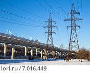Купить «Индустриальный городской пейзаж», фото № 7016449, снято 15 февраля 2015 г. (c) Юлия Бабкина / Фотобанк Лори