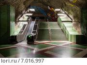 Метро Стокгольма. Станция Кунгстрадгорден (2010 год). Редакционное фото, фотограф Roman Vukolov / Фотобанк Лори