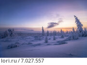 Пейзаж с луной и солнцем, фото № 7027557, снято 23 февраля 2017 г. (c) Оксана Владимировна Грачева / Фотобанк Лори