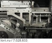 Купить «Внутренности старого механизма (линотип)», фото № 7028833, снято 6 февраля 2015 г. (c) Ельцов Владимир / Фотобанк Лори