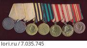 Колодка с медалями. Стоковое фото, фотограф Константин Болотников / Фотобанк Лори