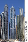 Купить «Самое высокое жилое здание-небоскреб The Tourch в Dubai Marina городе Дубай, ОАЭ», фото № 7037181, снято 30 октября 2014 г. (c) SevenOne / Фотобанк Лори
