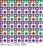 Купить «Бесшовный геометрический узор со звёздами на белом фоне», иллюстрация № 7037433 (c) Astronira / Фотобанк Лори