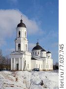 Купить «Православный кафедральный собор Ильи Пророка, Сольцы. Россия», фото № 7037745, снято 20 февраля 2013 г. (c) Kirill Medvedev / Фотобанк Лори