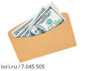 Конверт с наличными долларами. Стоковая иллюстрация, иллюстратор Иван Гусев / Фотобанк Лори