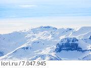 Купить «Зимний пейзаж. Кавказские горы, Сочи, Красная поляна», фото № 7047945, снято 19 января 2015 г. (c) Сергей Новиков / Фотобанк Лори