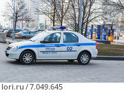 Полицейский автомобиль (2015 год). Редакционное фото, фотограф Сергей Кочевых / Фотобанк Лори