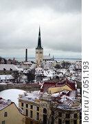 Классический зимний вид Таллина (2014 год). Стоковое фото, фотограф Ивашков Александр / Фотобанк Лори