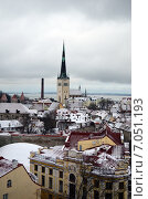 Купить «Классический зимний вид Таллина», фото № 7051193, снято 11 января 2014 г. (c) Ивашков Александр / Фотобанк Лори