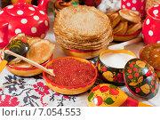 Купить «Pancake during Shrovetide», фото № 7054553, снято 6 марта 2011 г. (c) Яков Филимонов / Фотобанк Лори