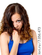 Купить «Девушка с вьющимися волосами», фото № 7056473, снято 25 мая 2014 г. (c) Алексей Дмецов / Фотобанк Лори