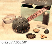 Аксессуары для шитья. Стоковое фото, фотограф Анастасия Андрюхина / Фотобанк Лори