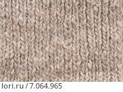 Купить «Грубая вязаная текстура, фон», эксклюзивное фото № 7064965, снято 28 апреля 2014 г. (c) Юрий Морозов / Фотобанк Лори