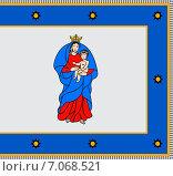 Купить «Флаг города Кретинга. Литва», иллюстрация № 7068521 (c) Владимир Макеев / Фотобанк Лори