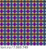 Купить «Бесшовный геометрический текстурный фон с прозрачными звёздами», иллюстрация № 7069749 (c) Astronira / Фотобанк Лори