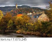Купить «Красочный вид осенью на монумент Уильяма Уоллоса в Стерлинге», фото № 7073245, снято 2 ноября 2007 г. (c) Svetlana Mihailova / Фотобанк Лори