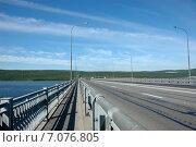 Автомобильный мост через Кольский залив. Мурманск. (2009 год). Стоковое фото, фотограф Данилова Наталья / Фотобанк Лори