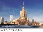 Купить «Дворец культуры и науки в Варшаве», фото № 7082365, снято 30 декабря 2014 г. (c) Наталья Волкова / Фотобанк Лори