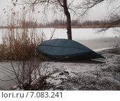 У зимней реки. Стоковое фото, фотограф Виктор Ярошевский / Фотобанк Лори