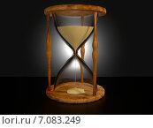 Песочные часы в деревянном корпусе. Стоковая иллюстрация, иллюстратор Солодилов Алексей / Фотобанк Лори