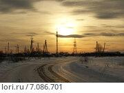 Зимняя дорога. Стоковое фото, фотограф Лия Ерхонина / Фотобанк Лори