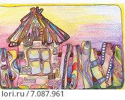 Домик. Стоковая иллюстрация, иллюстратор Лия Ерхонина / Фотобанк Лори