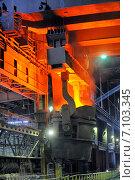 Производство горячей стали. Стоковое фото, фотограф Iordache Magdalena / Фотобанк Лори