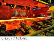 Купить «Горячая сталь на конвейере», фото № 7103493, снято 10 января 2012 г. (c) Iordache Magdalena / Фотобанк Лори