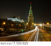 Кремлёвская набережная, вид на набережную и Водовозную башню (2015 год). Стоковое фото, фотограф Vladimir Oboliaev / Фотобанк Лори