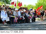Ветераны Великой Отечественной Войны, на параде победы (2013 год). Редакционное фото, фотограф Синенко Юрий / Фотобанк Лори
