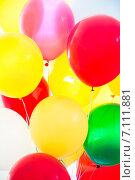 Воздушные шарики цветные. Стоковое фото, фотограф Юрий Коваль / Фотобанк Лори